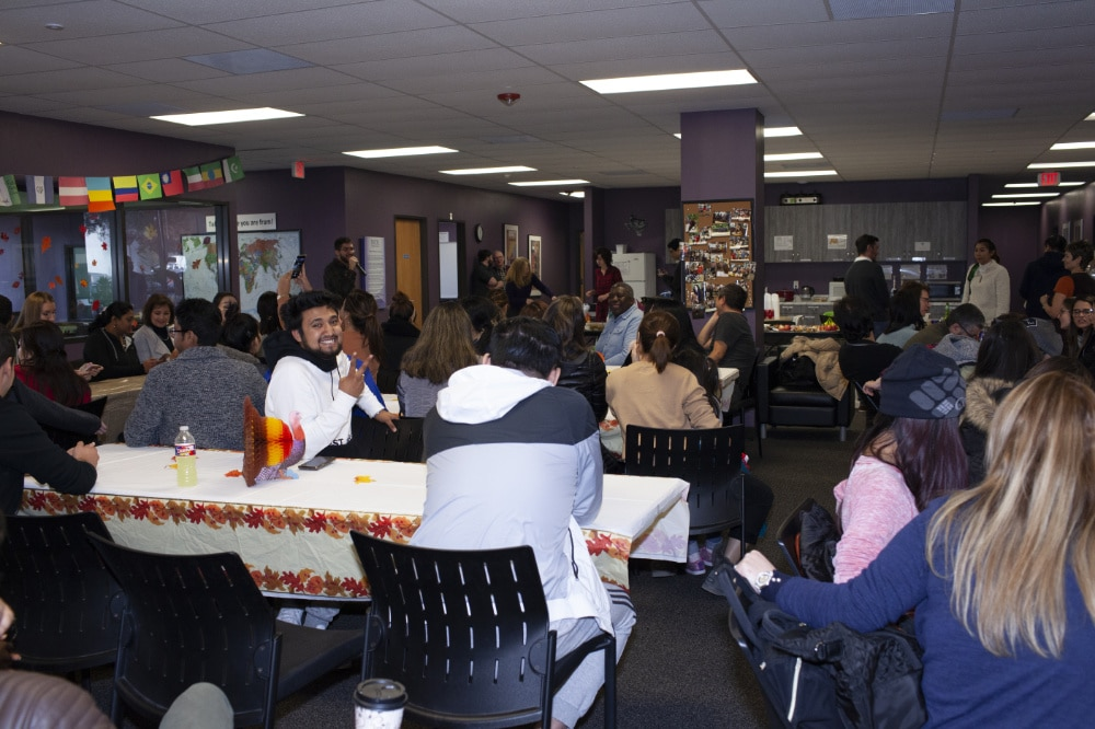 Thanksgiving with Students | Excel English Institute