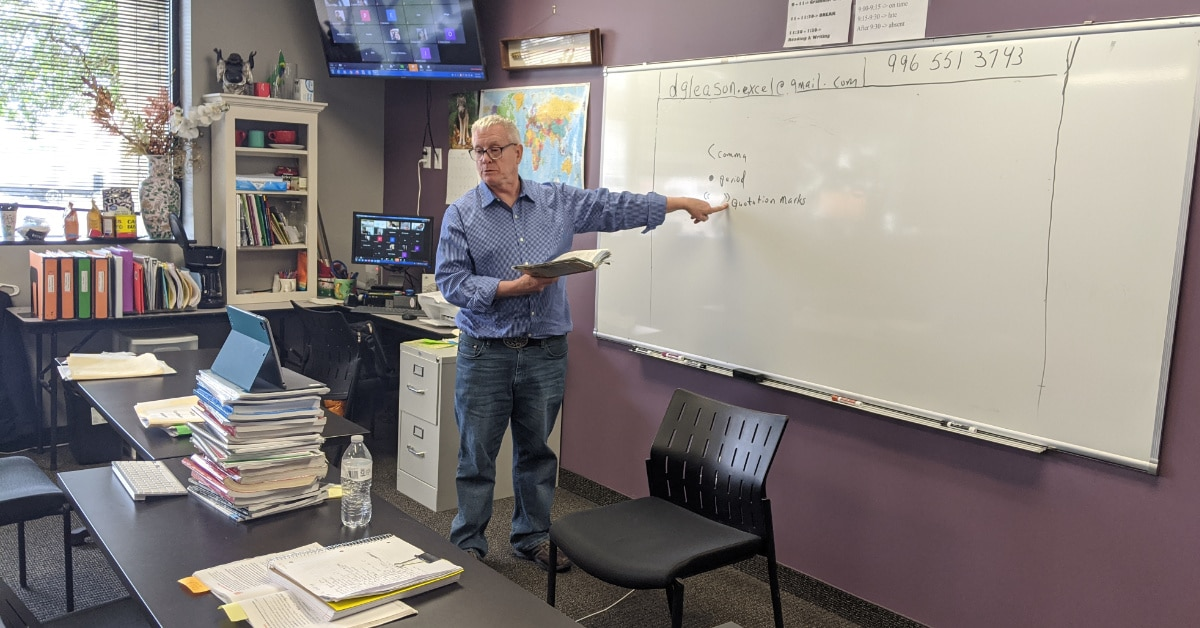Transitioning to Online Classes- Don Gleason Teaches English Virtually